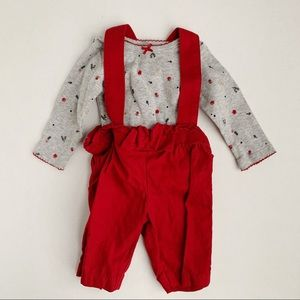 Carter's Newborn Adorable Overalls Outfit